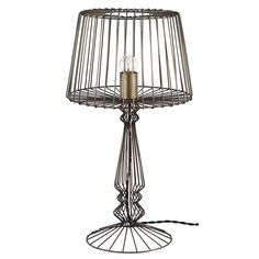 Industrial Wire Table Lamp | Lighting | Accessories