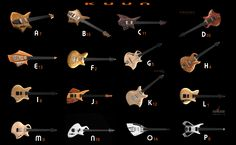 Survey results showing popularity of some of my electric guitar designs.