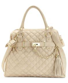 Steve Madden Handbag, Bparker Quilted Satchel - Handbags & Accessories - Macy's