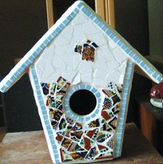 Mexican tiled Birdhouse- mosaic