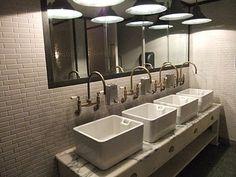 Gold bathroom inspiration - Jamie Oliver Italian in Cambridge