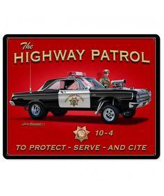 The Highway Patrol Metal Print