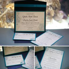 Nautical themed wedding invitations from 1 of a Kind Designs via Etsy! Image: Carrie Wildes Photography