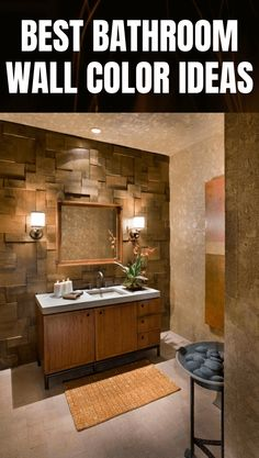 BEST BATHROOM WALL COLOR IDEAS Bathroom Wall Colors, Amazing Bathrooms, Decor Ideas, House, Home, Haus, Houses, Homes
