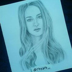 Shailene Woodley drawing