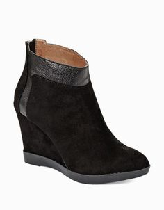 DONALD J. PLINER Chez Suede Wedge Booties $149.99 thestylecure.com