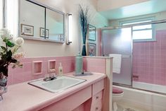 One of our new listings today...LOVE THIS! Save the Pink Bathroom :0)