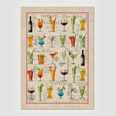 Cocktail Hour Kitchen Towel, $8.95, from Michel Design Works