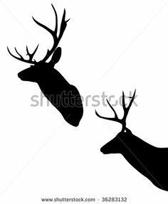 Deer Head Silhouette Stock Photos, Deer Head Silhouette Stock Photography, Deer Head Silhouette Stock Images : Shutterstock.com
