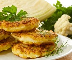 There are more exciting ways to serve up the goodness of cauliflower than cauliflower cheese! Try these delicious Italian-inspired fritters for a tasty treat. Cauliflower Fritters, Cauliflower Cheese, Cauliflower Recipes, Corn Fritters, Most Nutritious Vegetables, Nutritious Meals, Entree Recipes, Healthy Recipes, Vegetable Recipes