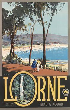 Original Vintage Poster Lorne Australia by James Northfield, 1935 Vintage Advertisements, Vintage Ads, Perth, Posters Australia, Australian Vintage, Tourism Poster, Retro Poster, Kunst Poster, Poster Prints