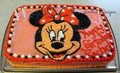Spindles Designs by Mary & Mags: Minnie Birthday Cake and Decorator's Frosting