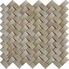 Basketweave tile by Baden Bath gives a modern twist to a classic materialDecorative mosaic tile is hand-cut and hand-polished and set on fiberglass mesh backingTravertine tile is perfect for a backsplash, bath or shower accent