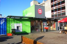 Container Bank Kiwibank and Post Office