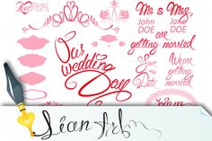 Wedding invitation set by Lian-art on Creative Market