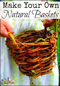 The Ultimate Nature Upcycle is part of Basket weaving - Make your own plant pots and baskets from natural materials with this simple tutorial they make lovely gifts, too! Crafts To Sell, Fun Crafts, Arts And Crafts, Willow Weaving, Basket Weaving, Fall Crafts For Adults, Crafts For Kids, Upcycled Crafts, Mason Jar Crafts