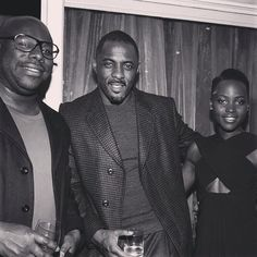 Steve McQueen, Idris Elba & Lupita Nyong'o.