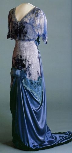 blue gown 1910 - 1913 Queen Maud Gown