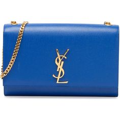 Saint Laurent Monogramme Medium Chain Shoulder Bag (49 850 UAH) ❤ liked on Polyvore featuring bags, handbags, shoulder bags, blue, borse, purses, leather man bag, leather shoulder bag, hand bags and man bag