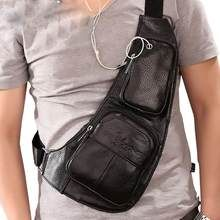 Men's Waterproof Vintage Leather Travel Riding Cross Body Messenger Shoulder Sling Antitheft Chest Casual Bag Color Coffee B Vintage Leather, Vintage Men, Shoulder Sling, Shoulder Bag, Holster, Back Bag, Hiking Backpack, Casual Bags, Leather Craft