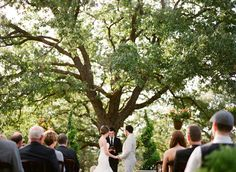 If both you and your fiance share a passion over nature, perhaps select a gorgeous tree as your ceremonial altar!