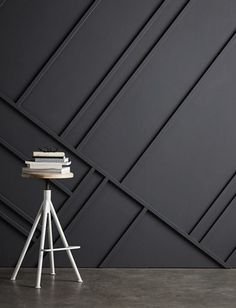 Instant Architecture: A Fresh Modern Trend In Traditional Wall Treatments Wall trim is a strong visual signal, conveying the architectural style of a . Interior Walls, Home Interior, Interior Design, Interior Modern, Wall Cladding Interior, Interior Rendering, Farmhouse Interior, Interior Trim, Modern Interiors