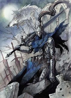 Artorias from Dark Souls Done for  LeePine as a... - Tiny Paper World | kutty-sark