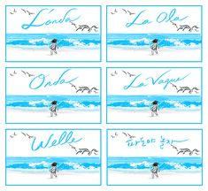 Suzy Lee: One word picture books, easy to translate!