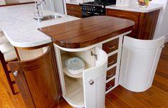 Canterbury Art Deco Kitchen - Better Bathrooms and Kitchens Kitchen Organisation, Diy Kitchen Storage, Art Deco Kitchen, Kitchen Decor, Kitchen Ideas, Kitchen Utensils Store, Hidden Kitchen, Warm Home Decor, Amazing Bathrooms