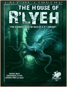 The House of R'lyeh | Book cover and interior art for Call of Cthulhu Roleplaying Game - CoC, Basic Role-Playing System, BRP, The Card Game, TCG, Miskatonic University, H. P. Lovecraft, fantasy, horror, Role Playing Game, RPG, Chaosium Inc. | Create your own roleplaying game books w/ RPG Bard: www.rpgbard.com | Not Trusty Sword art: click artwork for source