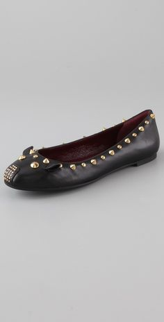 Marc By Marc Jacobs Studded Mouse Ballet Flats thestylecure.com