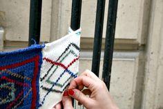 julie adore yarnbombing