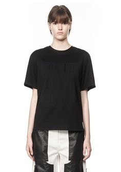 T SHIRT WITH BARCODE LOGO | Tops | Alexander Wang Official Site