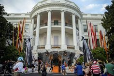 The White House got a full makeover for the spooky celebration on Friday, with scary-looking entertainers hired by the President