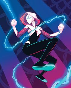 """sketchsauce: """" People still liked my year old Spider Gwen prints even after I'd gotten super tired of them, so I was inspired to update the colors, and now I have an accidental Vapor Wave Spider Gwen. Marvel Spider Gwen, Spiderman Spider, Spider Girl, Spiderman Gwen Stacy, Spiderman Marvel, Character Art, Character Design, Marvel Fan Art, Fanart"""
