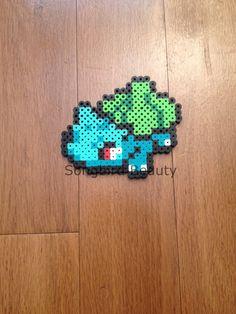 Bulbasaur Perler Beads Pokemon geekery by SongbirdBeauty on Etsy, $5.00  Check…