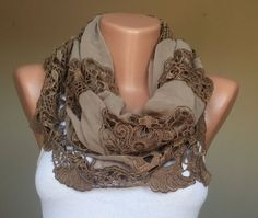 made of lace and chiffon summer scarves