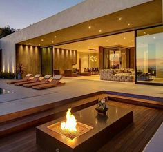 Outside lounge area of home