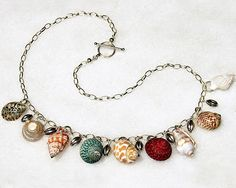 Seashell Jewelry | item 0515 seashells necklace sold genuine seashells sterling silver ...