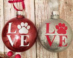Pet Ornament, Paw Print Ornament, Dog Mom Ornament, Cat Mom Ornament, Rescue Mom Ornament, Dog Ornament, Cat Ornament, Paw Ornament
