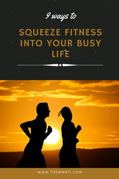 9 SUPER-EASY, QUICK & CHEAP ways to keep fit despite your busy schedule! Exercise tips for the busy woman. Learn to put fitness in every day.