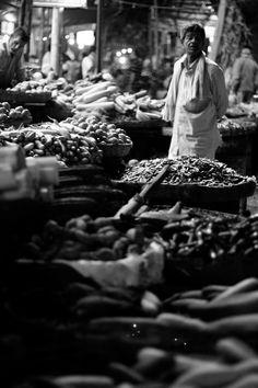 'Gandhi bazar' market in Bangalore