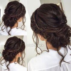Half-updo, Braids, Chongos Updo Wedding Hairstyles / http://www.deerpearlflowers.com/wedding-hair-updos-for-elegant-brides/5/ #weddingmakeup