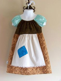 Peasant CINDERELLA RAGS Inspired Peasant Disney Princess Dress Girls by #MyKidsDrawers