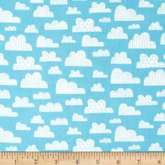 On The Go! Sky Light Blue from @fabricdotcom  Designed by Arrolynn Weiderhold for Wilmington Prints-For bunting/pillows
