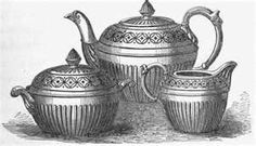 The manufacture of modern pottery in England includes no better example of good design applied to cheap and useful objects than the red 'delf' ware, originally produced, I believe, by Wedgwood, but no. Wedgwood, Tea Party, Home Improvement, Cool Designs, Pottery, Teapots, Tableware, Image Search, Modern