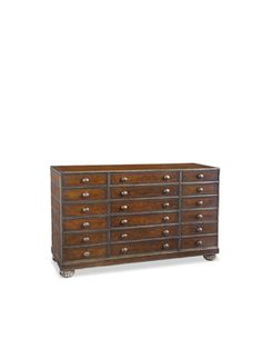 12 Drawer Leather Chest By John Richard On Gilt Home