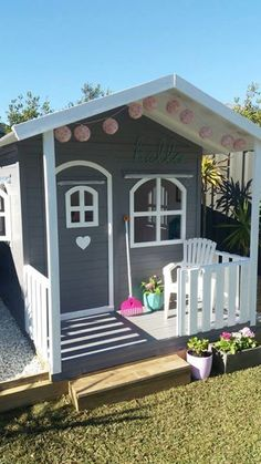 Kids Cubby House Billie Outdoor PlayHouse Timber High Del Available in Toys, Hobbies, Outdoor Toys, Cubby Houses Playhouse Decor, Girls Playhouse, Backyard Playhouse, Build A Playhouse, Backyard Playground, Kids Wooden Playhouse, Playhouse Windows, Playhouse Interior, Childrens Playhouse