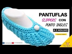 ✅ Exclusive Design of Two Needle Shoes ? Slippers Slippers with English Point to Sticks - Lilly is Love String Bag, Crochet Slippers, Market Bag, Knitted Bags, Bag Making, Crochet Necklace, Knitting, Shoes, Youtube Design