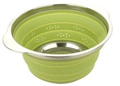 MIU France Collapsible Silicone Colander with Stainless S...